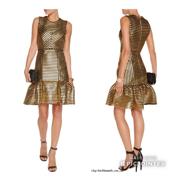 Metallic Gold Dress